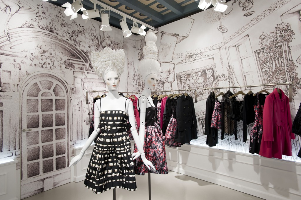 A view of the Red Valentino store.