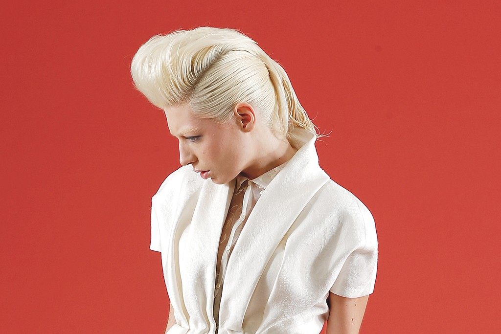 Delpozo's cotton, silk and viscose jacket and cotton blouse and trousers. Delpozo shoes.