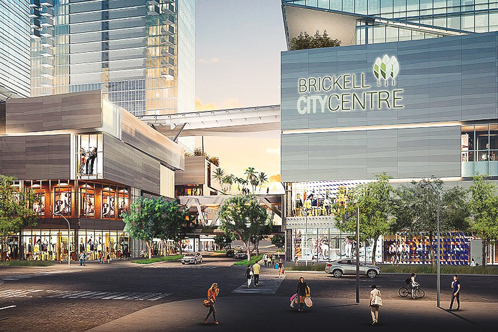 A rendering of the Brickell CityCentre mixed-use project.