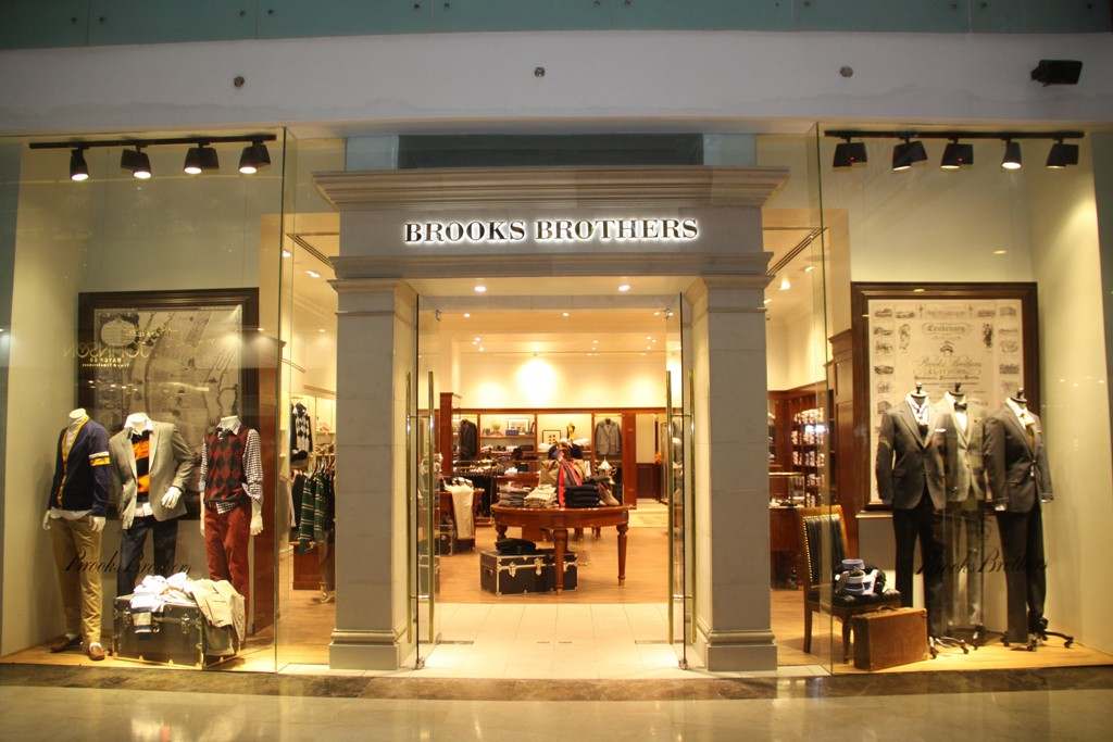 Brooks Brothers' India store.