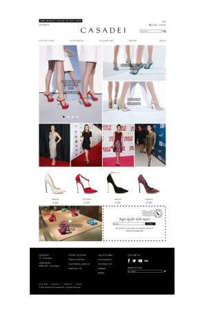 Casadei will launch an online boutique.