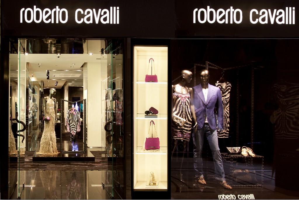 The Roberto Cavalli store in India.