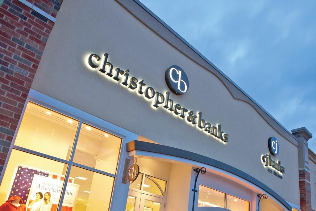 A Christopher & Banks storefront.