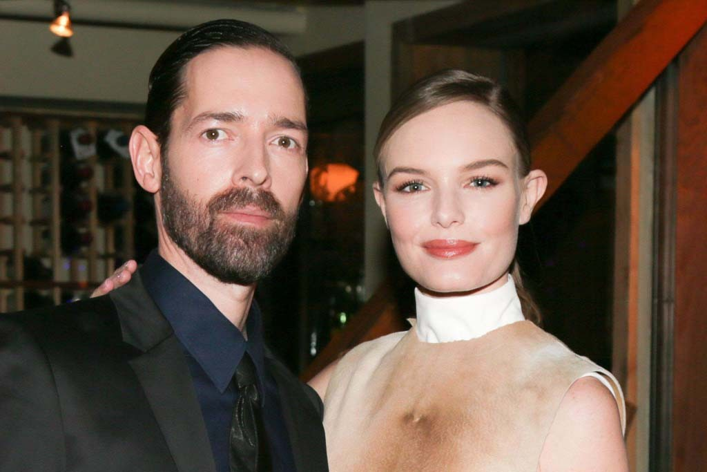 Michael Polish and Kate Bosworth in Calvin Klein Collection.