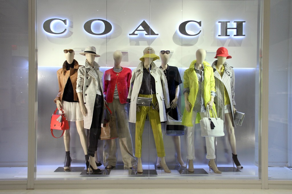 An example of Coach's new storefront display.