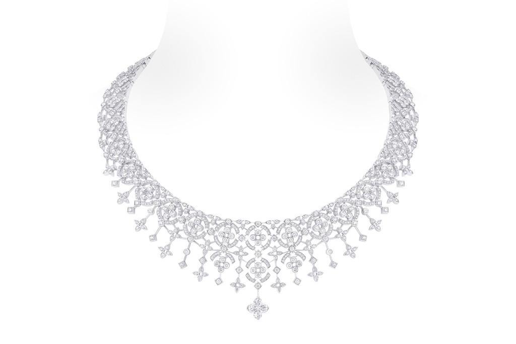 Louis Vuitton's Dentelle d'hiver diamond necklace.