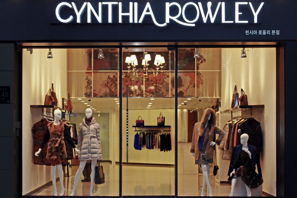 Cynthia Rowley's boutique in the Gangnam District of Seoul.