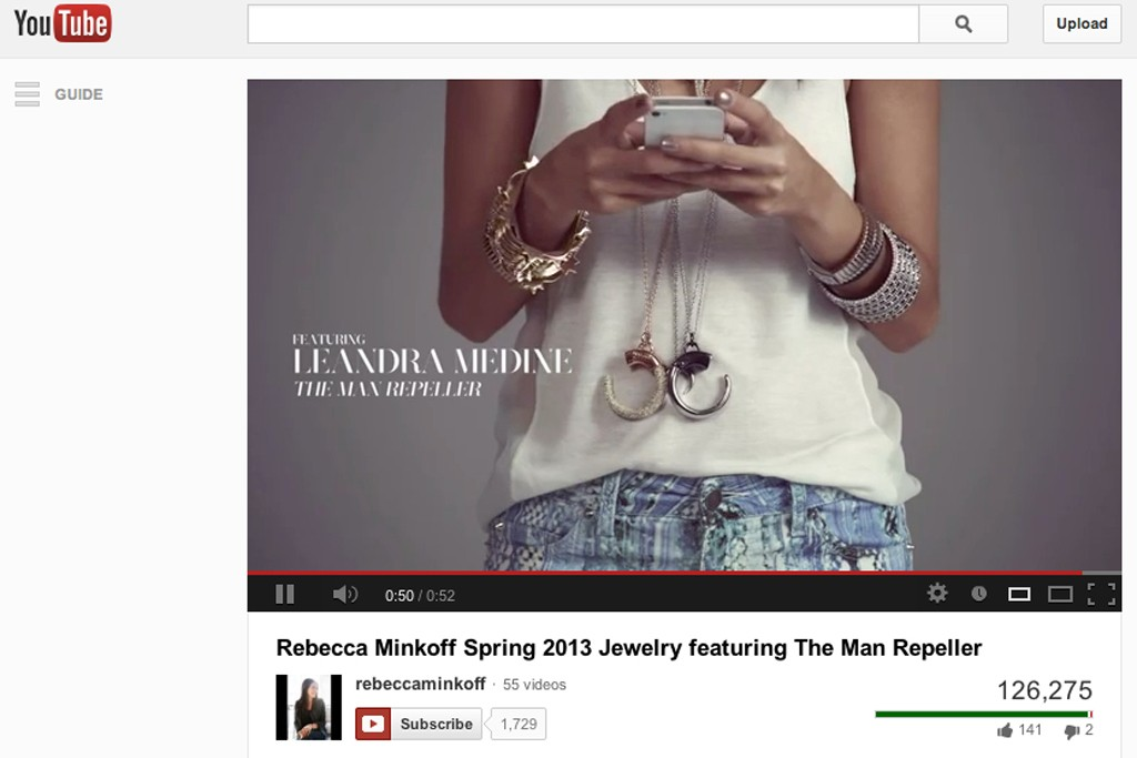 An image from Rebecca Minkoff's short film featuring Leandra Medine of the Man Repeller.