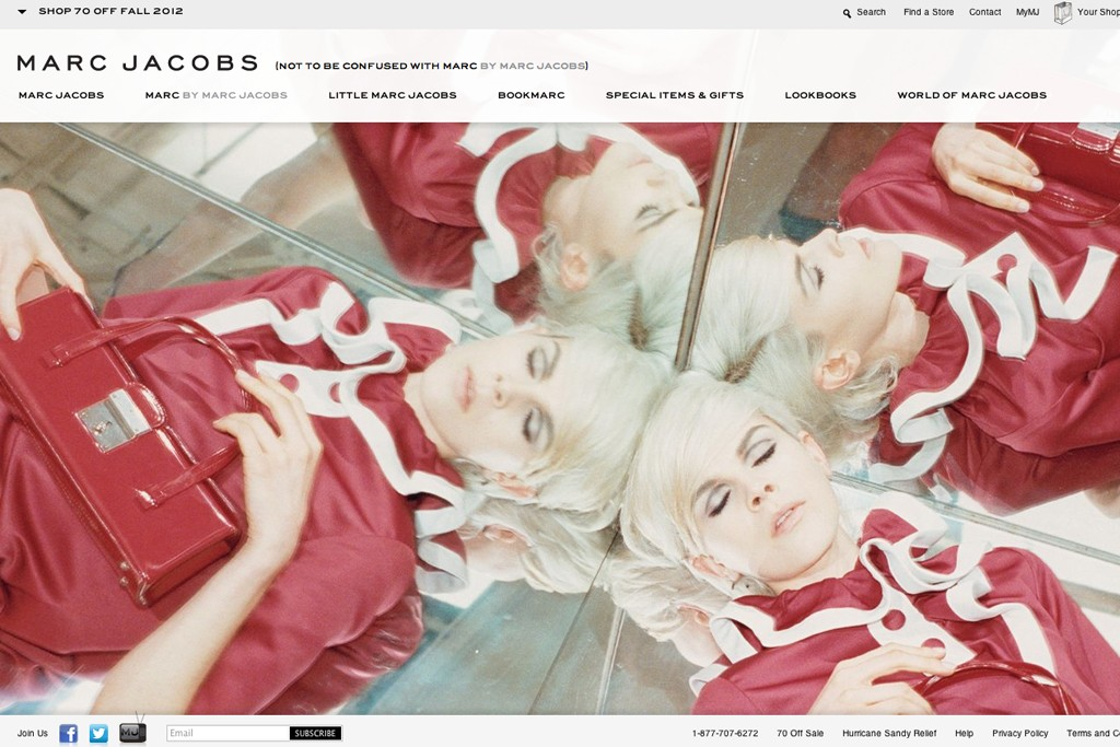 Marcjacobs.com was relaunched late last year.