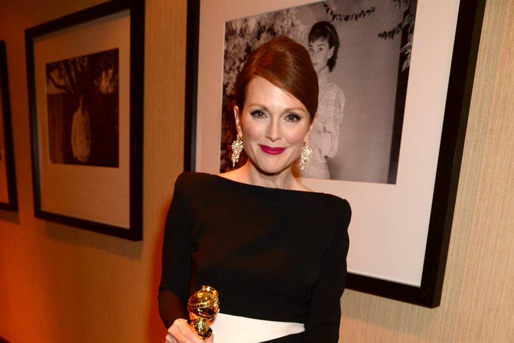 Julianne Moore in Tom Ford at HBO's Golden Globes party.