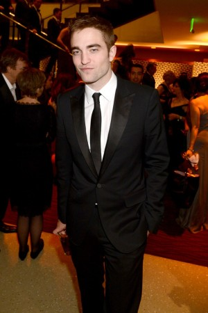 Robert Pattinson at HBO's Golden Globes party.