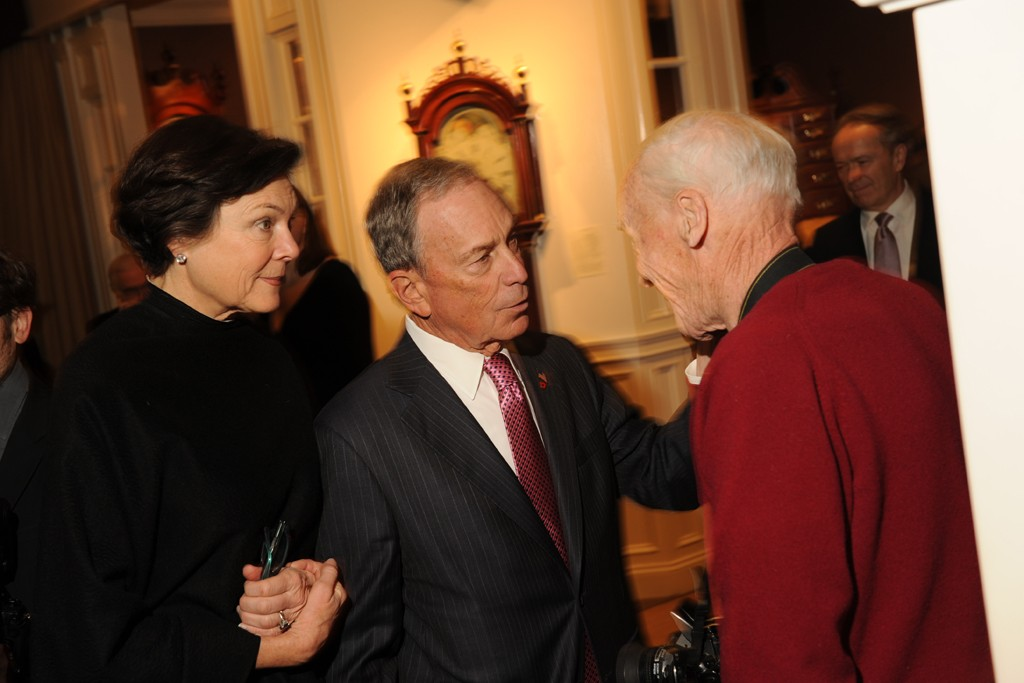 Diana Taylor, Mayor Michael Bloomberg and Bill Cunningham.