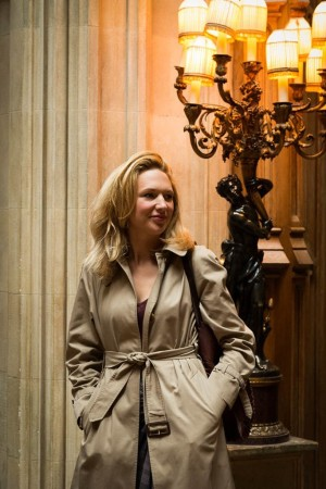 Jessica Fellowes at Highclere Castle where Downton Abbey is filmed.