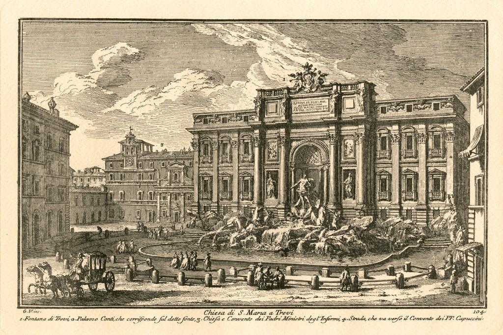 The Trevi fountain in Rome.