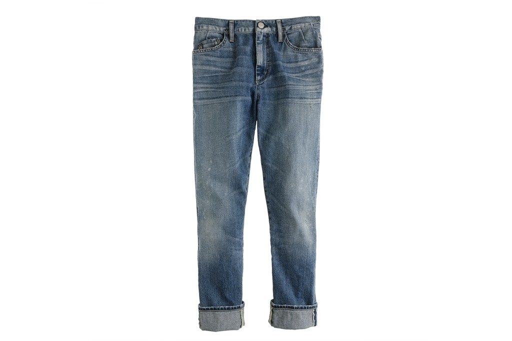 A pair of jeans from the GoldSign x J. Crew line.
