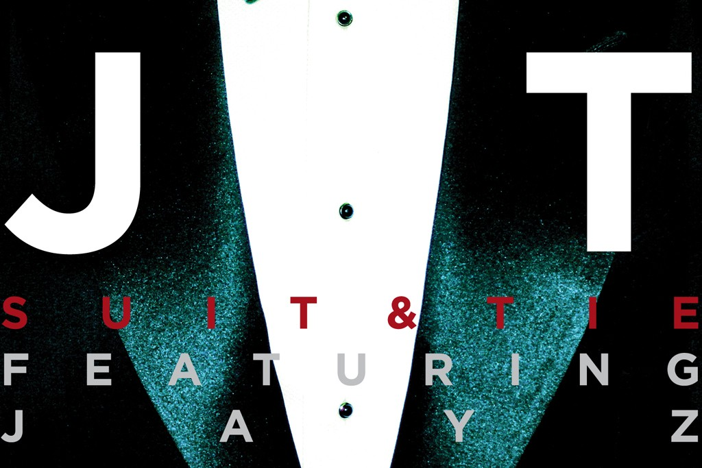 """The cover for """"Suit & Tie,"""" featuring Jay-Z."""