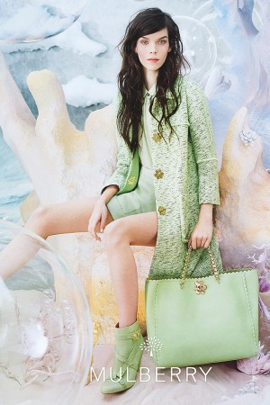 Meghan Collison in Mulberry's spring ad.