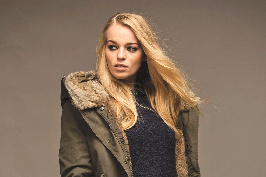 A look from the Woolrich John Rich & Bros. women's collection