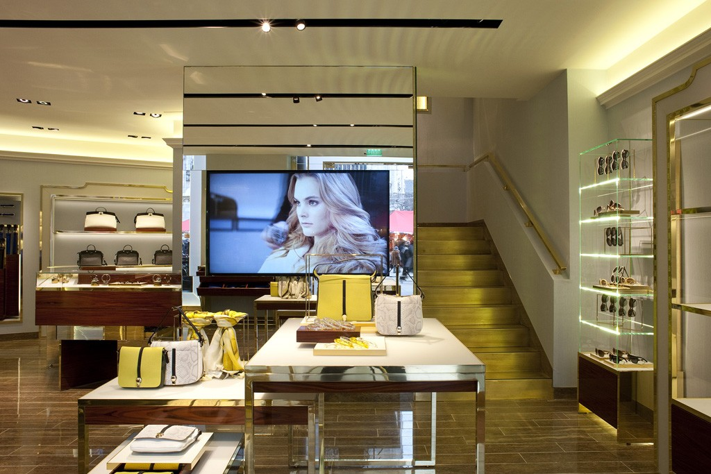 A view of the Furla store.