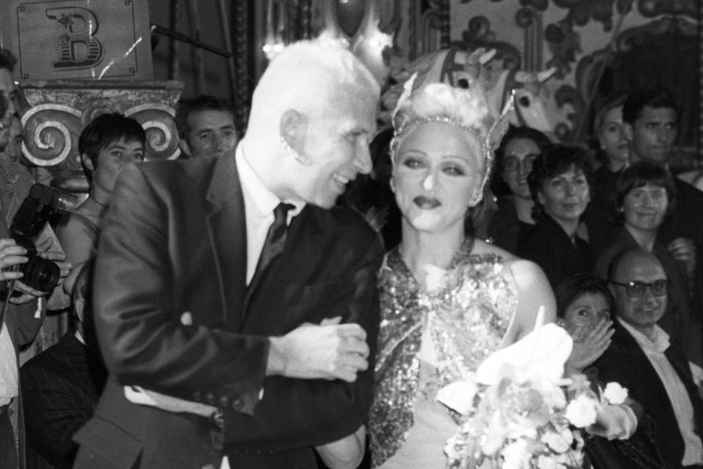 Jean Paul Gaultier with Madonna, Spring 1995.