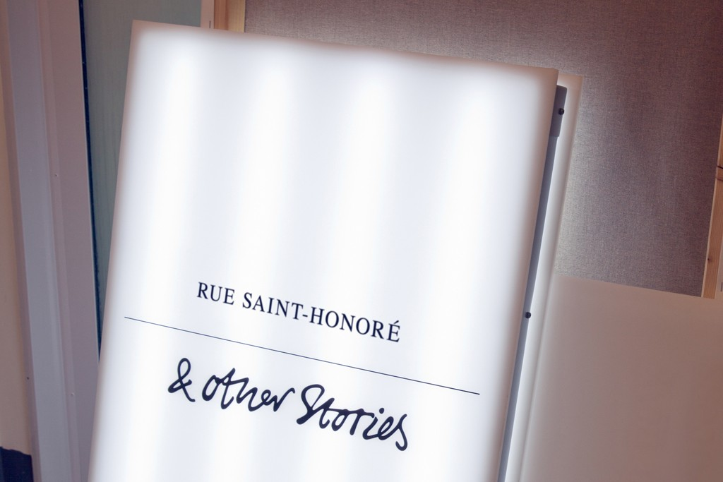 & Other Stories store sign in Paris.