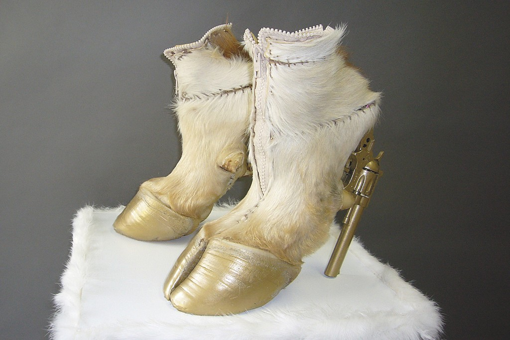 Cow Girl shoes, 2010, by Iris Schieferstein.