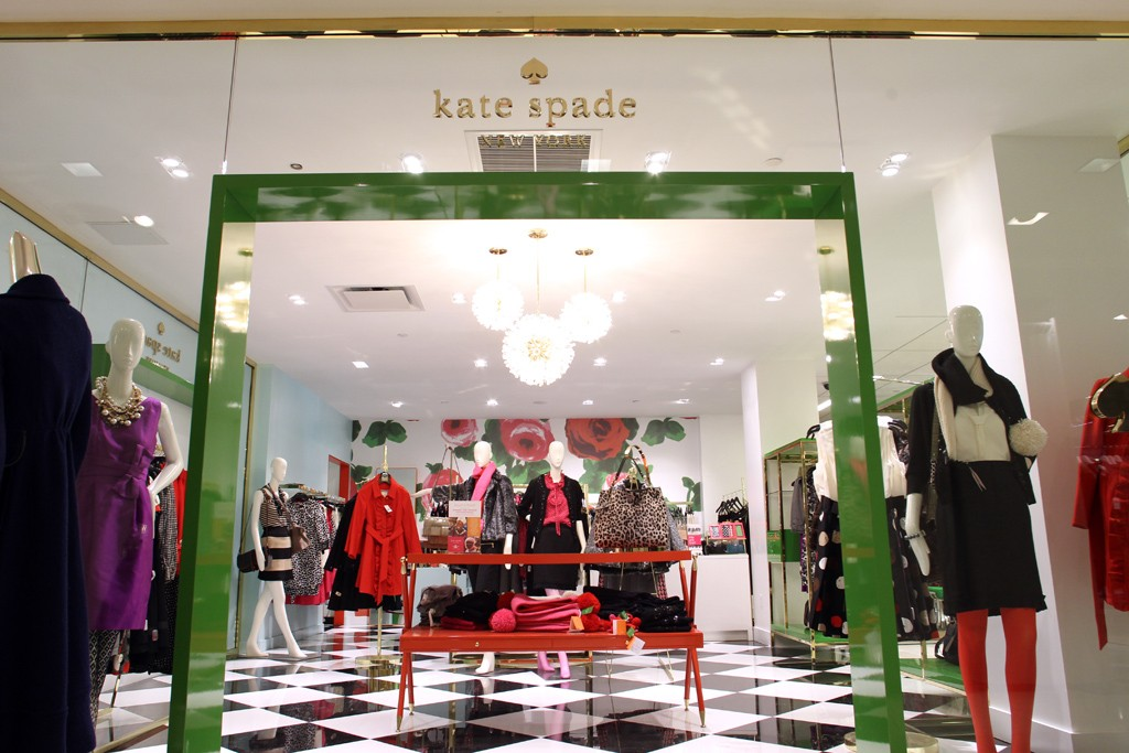 Exterior of a Kate Spade store.