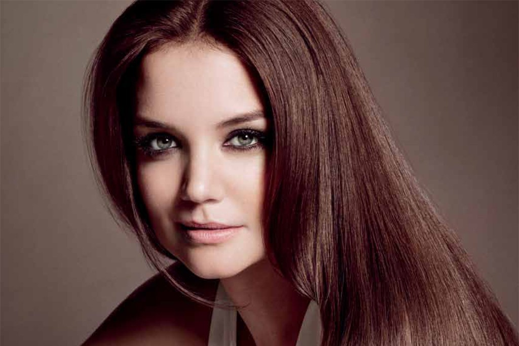 An ad from Alterna's first print advertising campaign, featuring Katie Holmes.