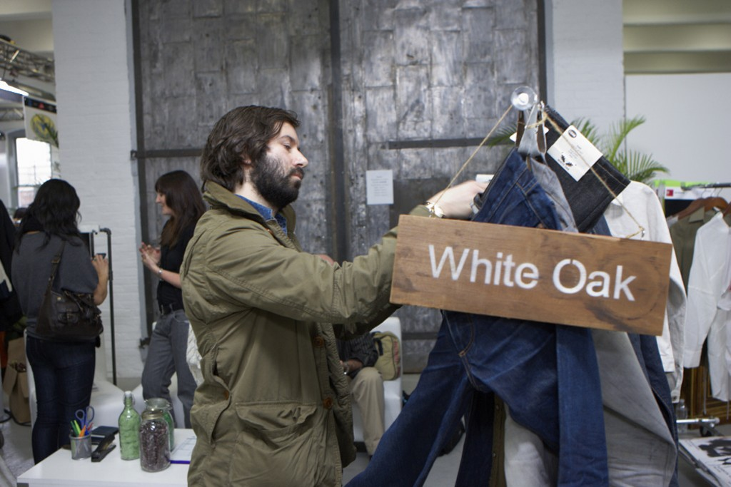 Checking out Cone Denim's White Oak line at Kingpins.