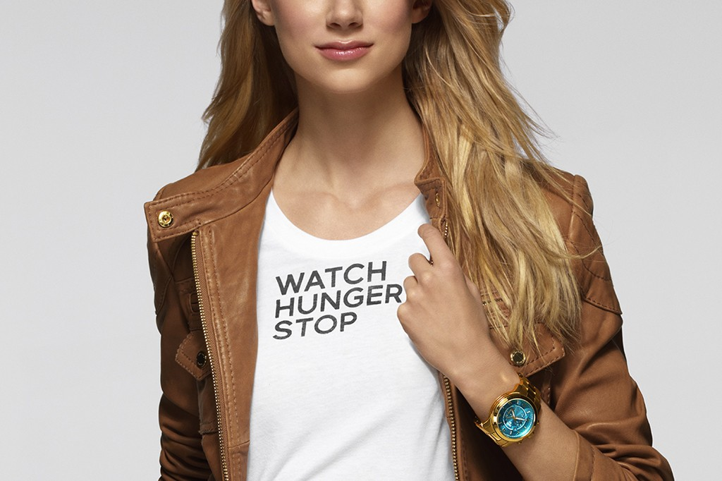 "Kors created two watches for the ""Watch Hunger Stop"" campaign."