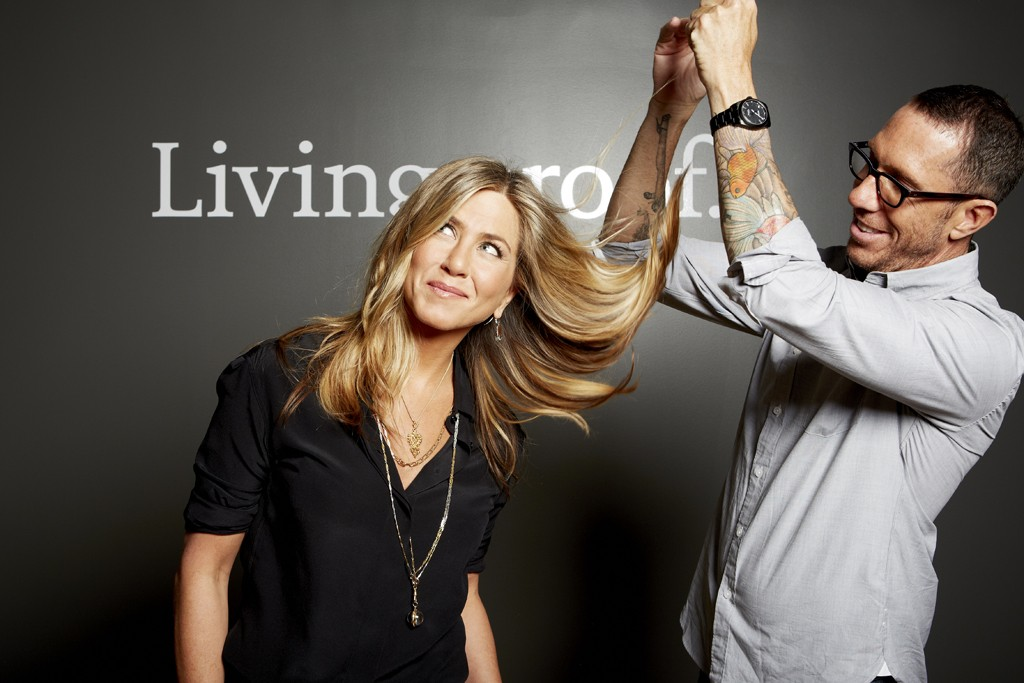 Jennifer Aniston and Chris McMillan for Living Proof.
