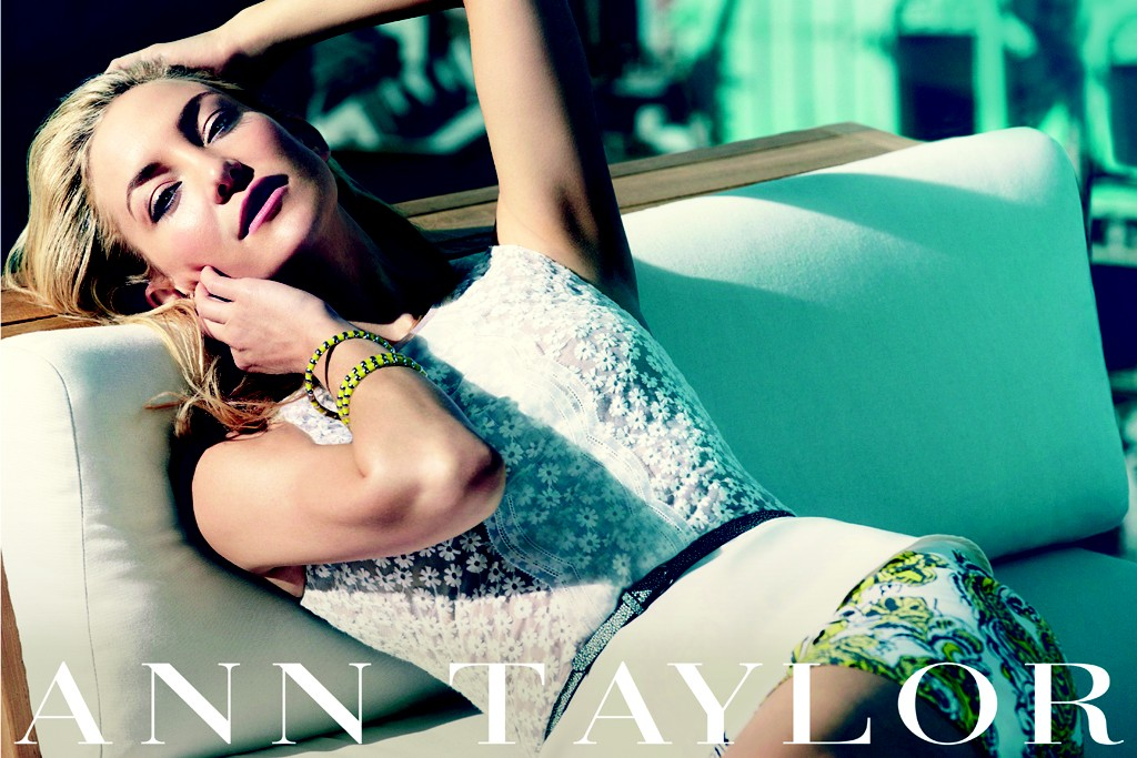 Kate Hudson in an ad from the spring campaign for Ann Taylor.