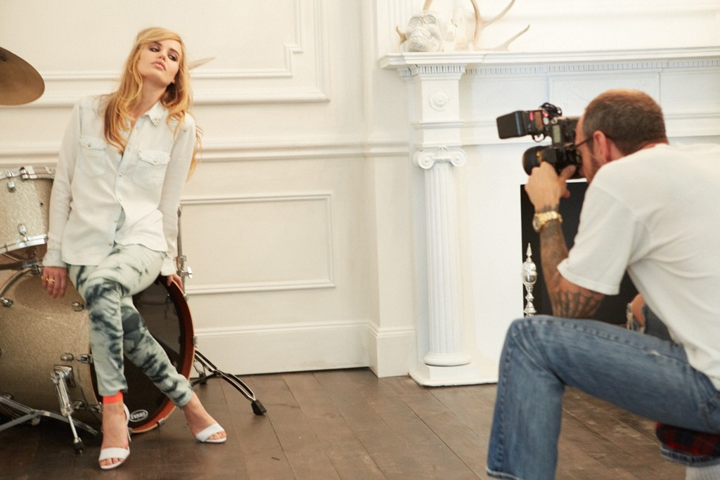 The making of the H&M Rock 'n' Roll Mansion ad campaign, featuring Georgia May Jagger, photographed by Terry Richardson.