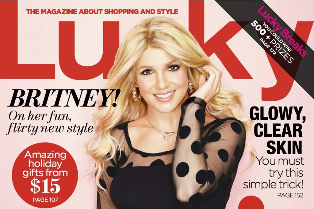Lucky magazine's December 2012 cover.