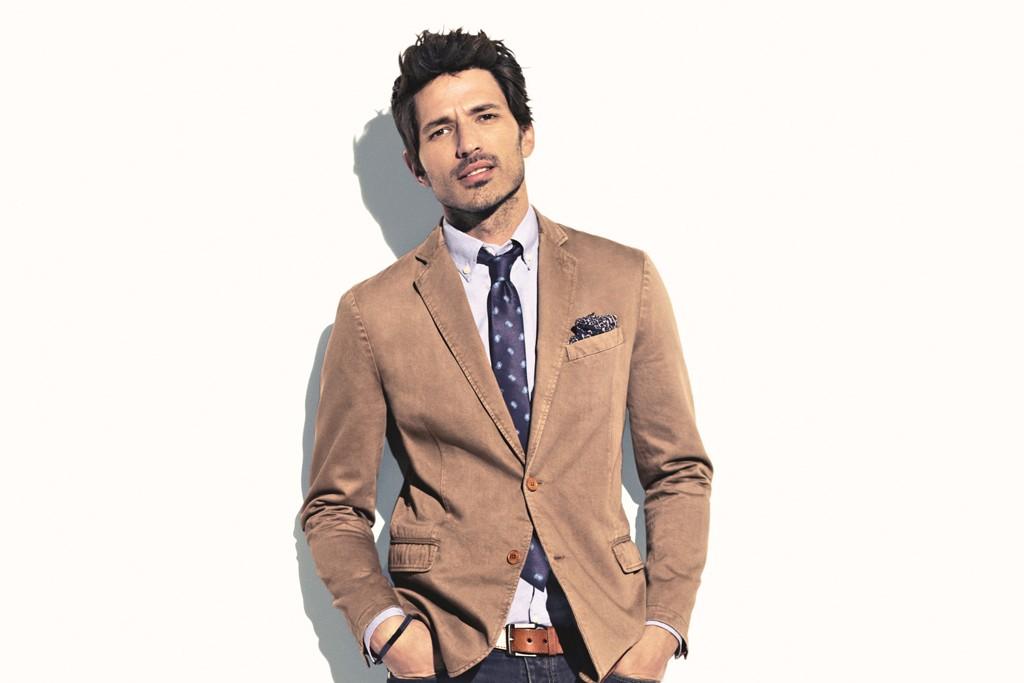 Andrés Velencoso in the spring campaign for H.E., the Mango menswear brand.