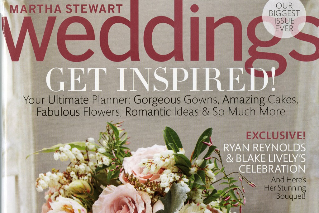 The cover of Weddings magazine.