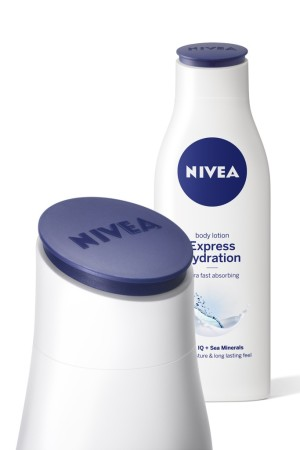 Nivea's Body Milk and Body Lotion are the first products to receive a redesign from Yves Behar.