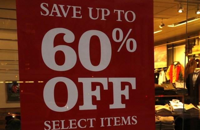 Retailers began discounting earlier this season.
