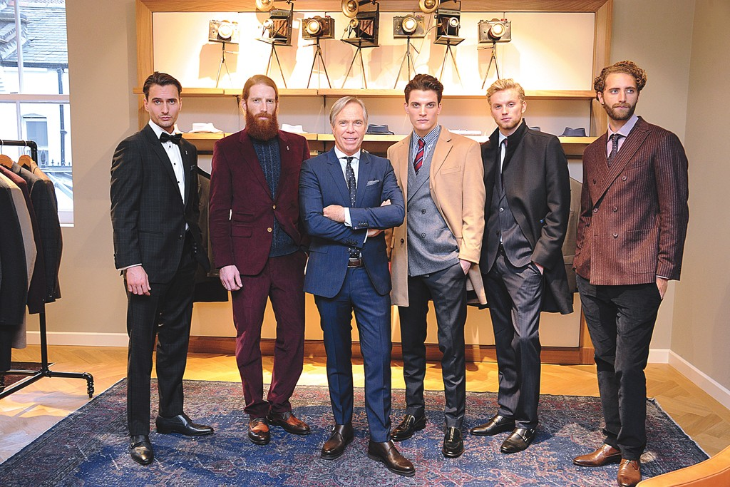 Tommy Hilfiger with models sporting the fall collection.