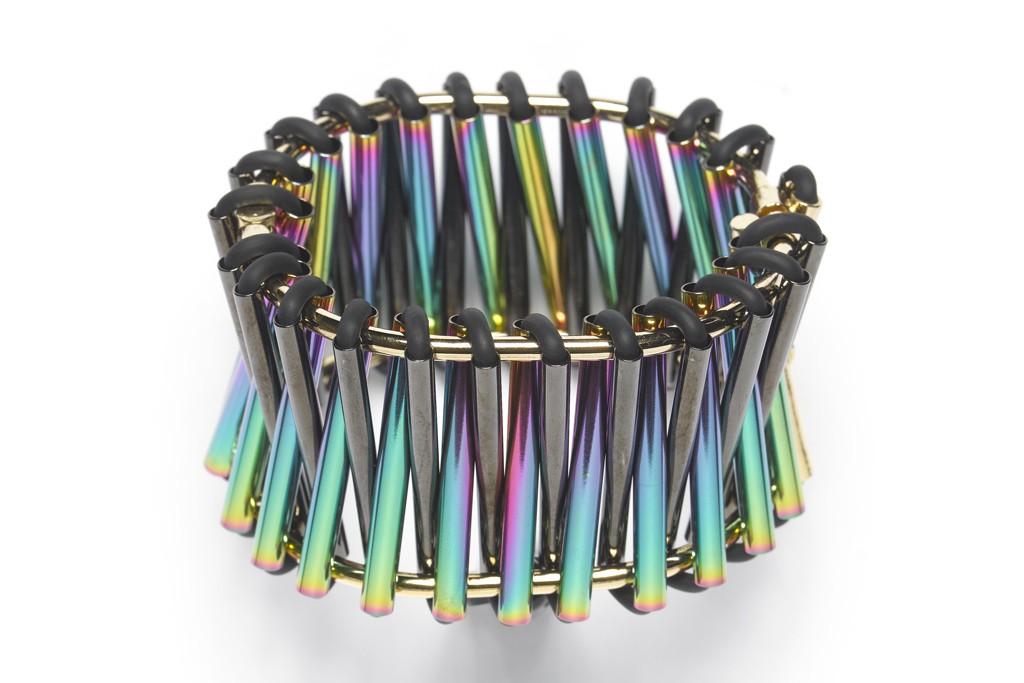 "WXYZ Jewelry's ""Hinged Staircase"" cuff."