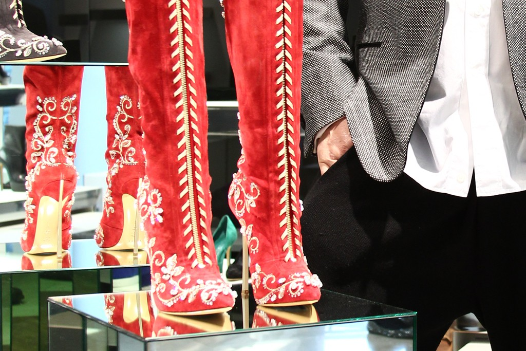 Based on a custom-made pair of boots made for Beyoncé, Cesare Casadei created a whole range of embellished styles for fall.