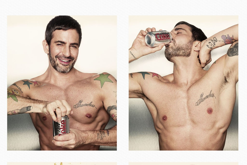 Marc Jacobs has a Diet Coke moment, as shot by Stéphane Sednaoui.