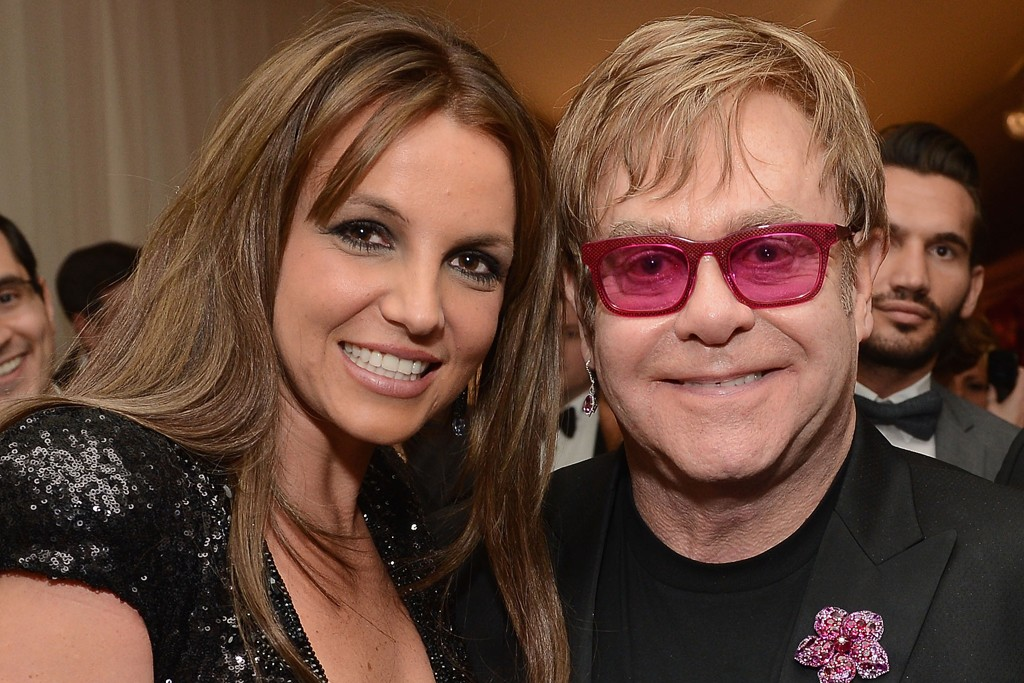 Britney Spears and Elton John