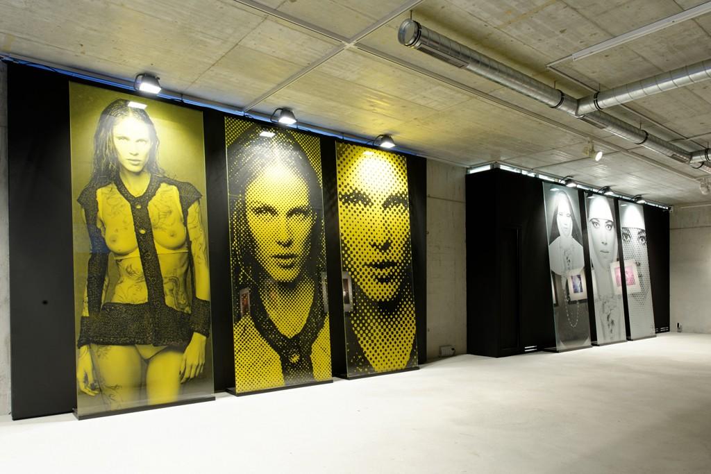 The works installed in Saint Moritz.