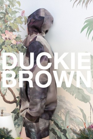 The Duckie Brown and Council of Fashion Designers of America poster photographed by Matin Zad.