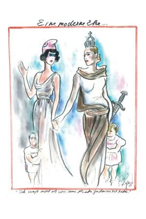Karl Lagerfeld's sketch for FAZ.