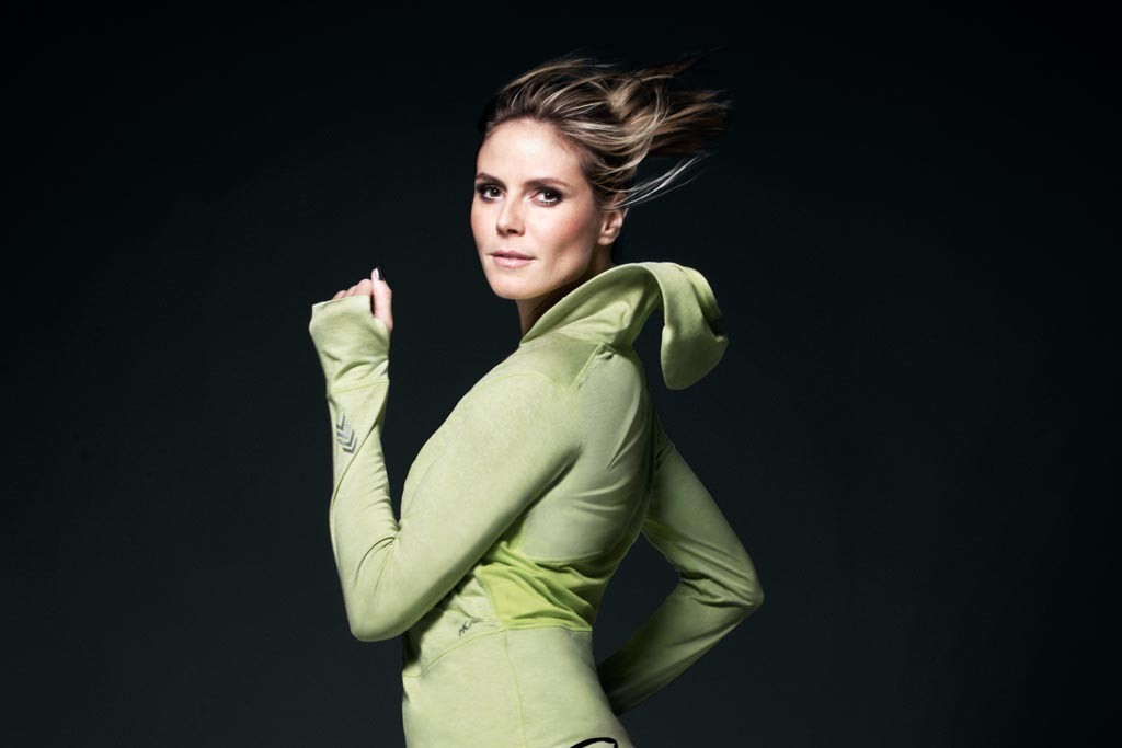 A visual for Heidi Klum's New Balance Collection.