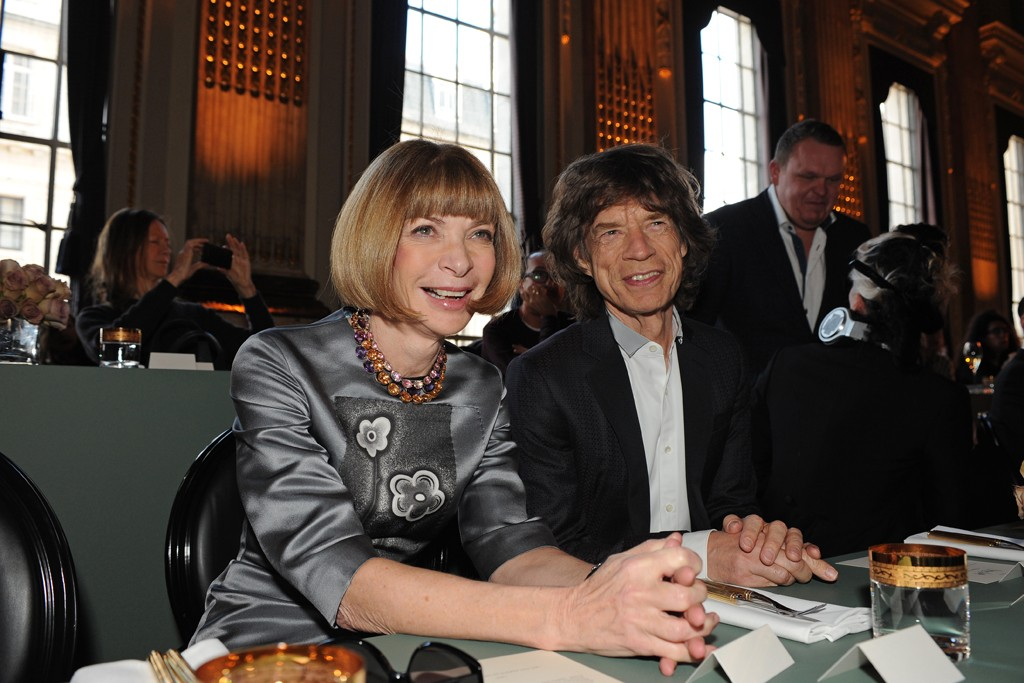 Anna Wintour & Mick Jagger