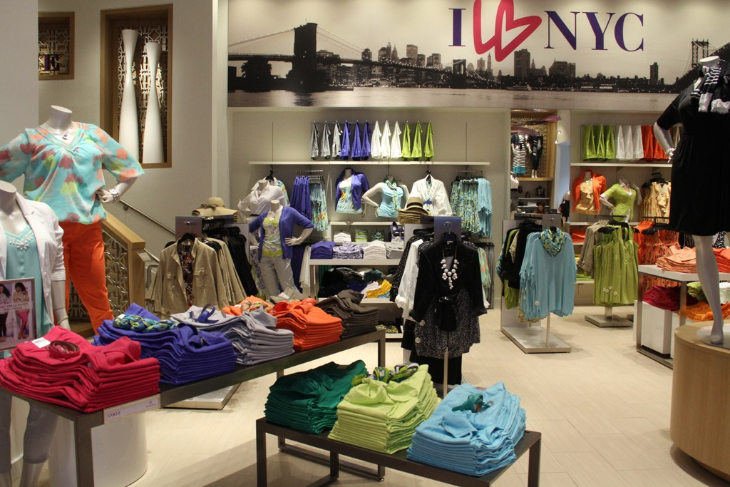 Interior of the Lane Bryant store.