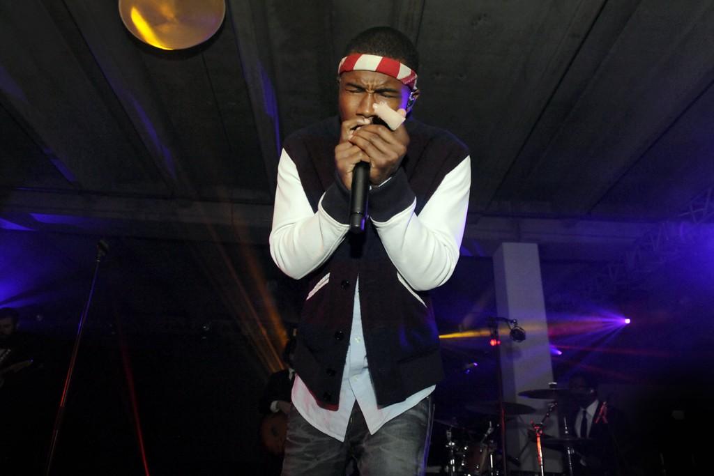 Frank Ocean performing.